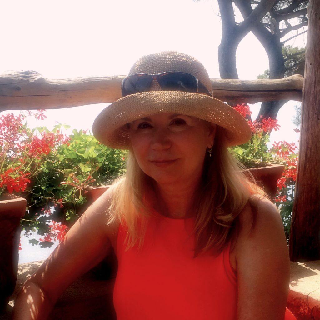 Image of Phyllis Gricus at the Villa Cimbrone Garden Ravello Italy on Almafi Coast